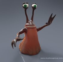 Character Design Alien Slug. A 3D, Character Design, and Post-Production project by Studio Capicúa         - 01.06.2015