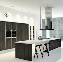 Cocina Loft, Centro de Madrid / Diseño de Interiores. Un proyecto de Diseño, 3D, Arquitectura interior y Diseño de interiores de Belén del Olmo Gil - 01-02-2011