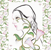 Retrato Floral. A Illustration, and Fashion project by Yelena Sayko         - 04.06.2015