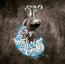 """Campaña """"Reciclaje, los beneficios se ven"""". A Art Direction, Graphic Design, T, pograph, and Calligraph project by Carlos Parra Ruiz - 07-06-2015"""