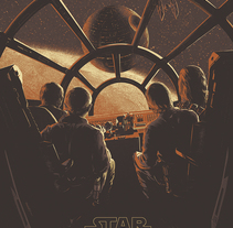 Star Wars - Poster . A Illustration, Film, Video, TV, and Screen-printing project by Juan Esteban Rodríguez         - 10.06.2015