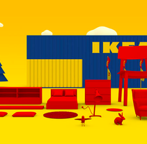 Ikea - TV Commercial. A 3D, and Animation project by Edgar  Ferrer - 28-02-2013