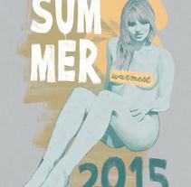 Warmest Summer 2015. Un proyecto de Ilustración y Pintura de Fende - 20-06-2015