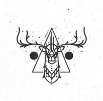 Deer İllustration. Un proyecto de Diseño, Ilustración y Dirección de arte de Turgay Mutlay         - 23.06.2015