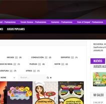 CasiJuegos. Um projeto de Design gráfico, Web design e Desenvolvimento Web de Laura Solanes         - 26.06.2015