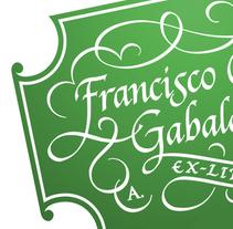 'Ex Libris' para Francisco C. Gabaldón. A Calligraph project by Alberto Álvarez - 08.13.2015