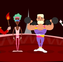 Personajes circo. Un proyecto de Diseño de personajes de olga ruano yeguas - Viernes, 29 de julio de 2016 00:00:00 +0200