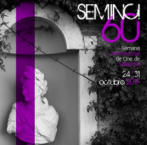 Cartel 60 SEMINCI . A Design, Advertising, Photograph, Film, Video, TV, Br, ing, Identit, Editorial Design, Events, Graphic Design, T, pograph, and Film project by Koke Hernán         - 10.07.2015