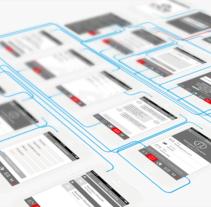 Wireframe App MD. Um projeto de Design, Desenvolvimento de software, UI / UX, Design gráfico e Desenvolvimento Web de Belén del Olmo Gil         - 13.07.2015