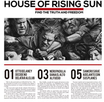 """""""House of rising sun"""". A Editorial Design, and Graphic Design project by Patricia Caulin Bou         - 14.04.2015"""