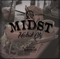 MIDST lounge eatering brand. Um projeto de Design, Br, ing e Identidade e Design gráfico de Natalia Beato Pérez         - 20.07.2015