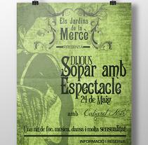 Posters Els jardins de la Mercè. Um projeto de Design gráfico de Mireia Arias         - 22.07.2015