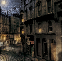 Concept Calle victoriana . Um projeto de Ilustração de Sergi Marti Troy         - 29.07.2015