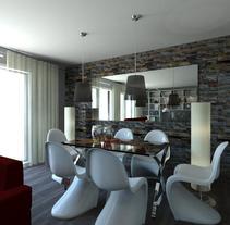 VIVIENDA PARTICULAR MÉRIDA  -  INTERIORISMO E INFOGRAFÍAS. Un proyecto de Diseño, 3D, Arquitectura interior y Diseño de interiores de Soledad Durán  - 30-07-2015