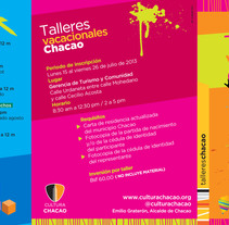 Tríptico Talleres Vacacionales . A Graphic Design project by Grisel Tolstow - 21-07-2014