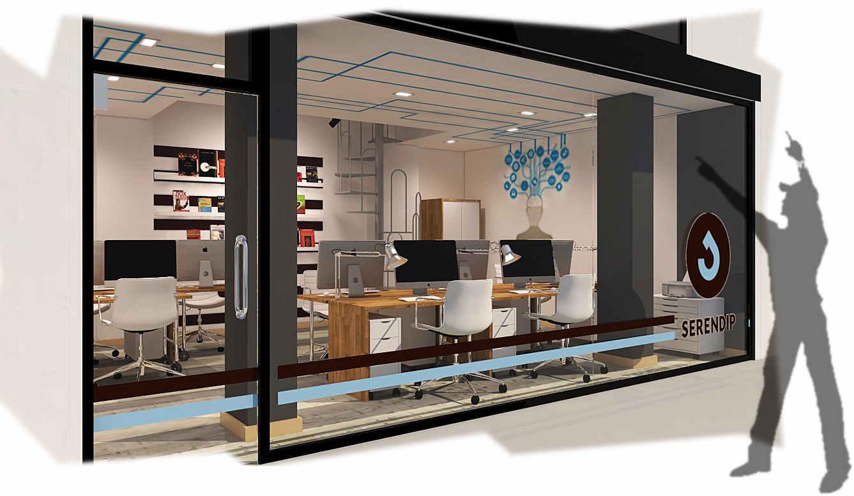 Dise o de oficina y aula de clases en espacio de coworking for Diseno de oficinas 3d