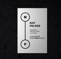 Tarjeta de visita para Nat Felder. Um projeto de Br e ing e Identidade de Diana Creativa - 15-06-2016