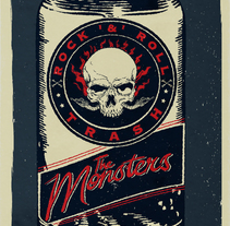 "Mi Proyecto del curso de Cartelismo Ilustrado ""The Monsters México 2015"". A Design, Illustration, Graphic Design, and Screen-printing project by Jacob Pascual - 16-09-2015"