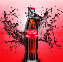 Afiche Coca-Cola. A Advertising, and Graphic Design project by Gianfranco Huancas         - 16.08.2015