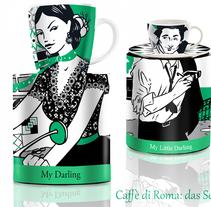 Caffè di Roma - Motivos para tazas. A Illustration project by Virginia Romo - 20-08-2015