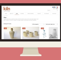Kiln, Ceramics & design - Tienda online para un taller de cerámica que vende objetos de artesanía. A Web Design, and UI / UX project by Diego García de Enterría Díaz - Aug 31 2015 12:00 AM
