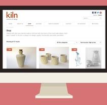 Kiln, Ceramics & design - Tienda online para un taller de cerámica que vende objetos de artesanía. Un proyecto de UI / UX y Diseño Web de Diego García de Enterría Díaz - 30-08-2015