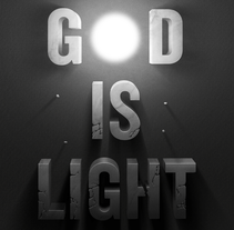 God is light. A Design, Illustration, Art Direction, Graphic Design, T, and pograph project by Manel Portomeñe Marqués - 11-09-2015