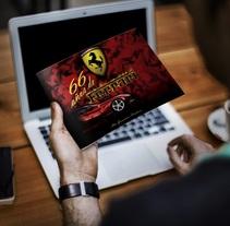Libro 66 años de Ferrari. Proyecto de grado.. Um projeto de Design editorial, Design gráfico e Escrita de Alex Goienetxea - 05-02-2013