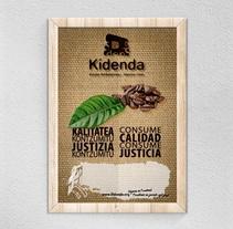 Cartel + Tarjetas de fidelización. Kidenda. Um projeto de Publicidade, Br, ing e Identidade e Design gráfico de Alex Goienetxea - 06-12-2014
