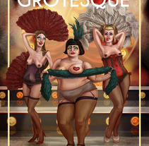 Burlesque Grotesque. A Illustration, Character Design, Fine Art, Graphic Design, and Painting project by Juan Jesús  Martínez Calderón - 06-09-2015