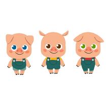 Character Design- 3 Little Pigs. Un proyecto de Bellas Artes, Diseño de personajes e Ilustración de Núria  Aparicio Marcos - Lunes, 14 de septiembre de 2015 00:00:00 +0200