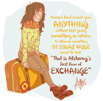 Equivalent Exchange!. A Illustration, Character Design, and Graphic Design project by Alessandra Casas Comesaña         - 06.09.2015