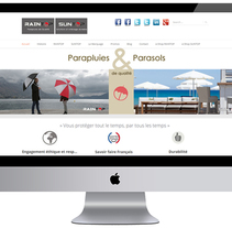 Parasoles SUNTOP & Paraguas RAINTOP. A Graphic Design, Web Design, and Web Development project by VIRGINIA HERMIDA LORENZO - 23-01-2015