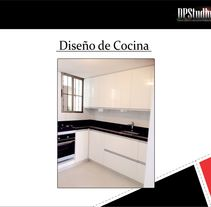 Diseño Cocina. A Design, Architecture, Cooking, Furniture Design, Interior Architecture, Interior Design, and Lighting Design project by DPStudio         - 28.09.2015
