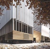 Biblioteca y guardería en Barcelona, colaboración con SUMA arquitectura. A 3D, and Architecture project by Diego  - 17-06-2015