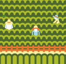 Cartel Terras Gauda 2015. Paisaje. A Illustration, and Graphic Design project by Salmorejo Studio  - 30-09-2015