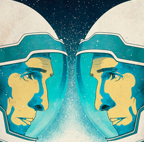 Interstellar Film Poster. A Design&Illustration project by Oscar Giménez - 04-10-2015