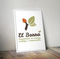 Imagotipo creado para la cooperativa de alimentos ecológicos, El Borró.. A Graphic Design project by Uri          - 04.10.2015