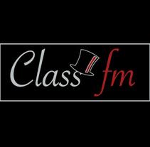 Logotipo Radio Online Class FM. Um projeto de Música e Áudio, Br, ing e Identidade e Design gráfico de Esther Herrero Carbonell         - 31.07.2015