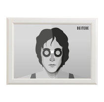 John Lennon. A Illustration, and Graphic Design project by Beitebe  - 09-10-2015