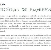 Blog personal sobre el Archivo y la Continuidad digital. A Information Architecture&Information Design project by francisco javier saiz rodrigo         - 15.10.2015