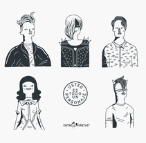 Usted es todo un personaje. A Character Design&Illustration project by Ana Galvañ - Oct 21 2015 12:00 AM