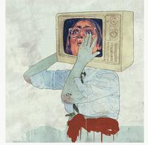 Historia de la televisión según Buenafuente y el terrat. Um projeto de Ilustração de marta zafra         - 10.10.2010