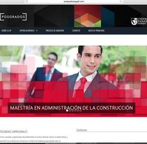 POSGRADOS UP. A Web Design project by Juan Pablo Calderón Preciado - 26-02-2014