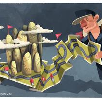 """Descobrir Catalunya, núm. 213. """"Dormir en refugis i albergs"""" . A Illustration project by Montse Casas Surós - Oct 10 2015 12:00 AM"""
