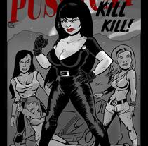 Ilustración de Faster Pussycat Kill Kill!. Um projeto de Ilustração de Alberto Peral Alcón - 18-11-2015