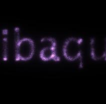 Texto con partículas RIBAQUA. Un proyecto de 3D y Animación de Rebeca Raymundo Escalante         - 24.11.2015