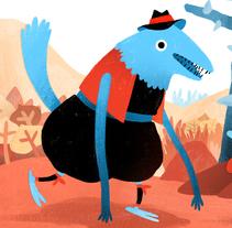 Pitoto y Castaño se van de fiesta.. Um projeto de Design de personagens de Elena Serrato         - 27.11.2015