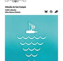 Cartel Terras Gauda. Un proyecto de Diseño, Ilustración, Dirección de arte, Diseño gráfico, Packaging y Diseño de producto de Laura Cortés         - 28.11.2015