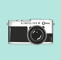 Olympus :: Iconic cameras. A Illustration, Photograph, Art Direction, and Graphic Design project by Bakoom Studio         - 30.11.2015